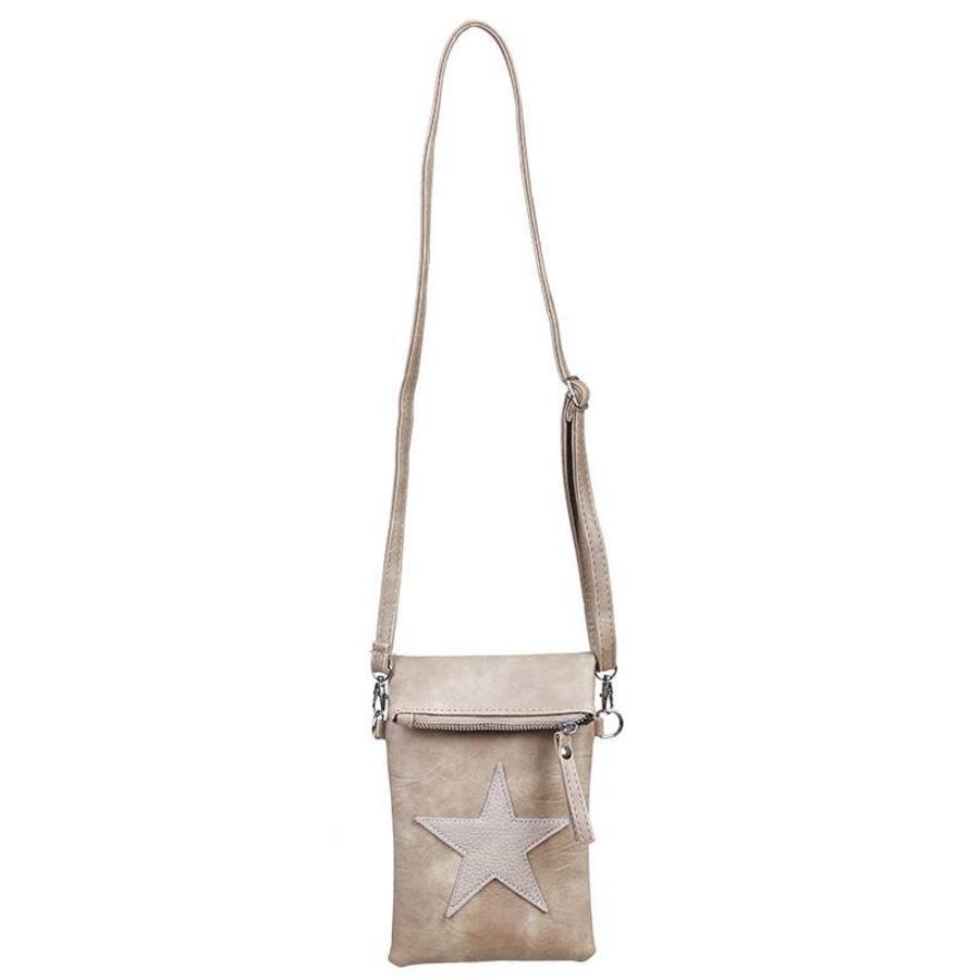 Flip top star bag / schoudertas / Bruin-2