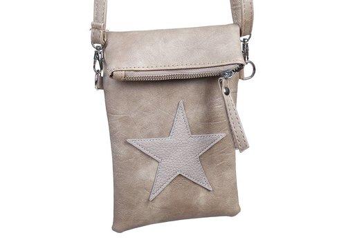 Flip top star bag / schoudertas / Bruin