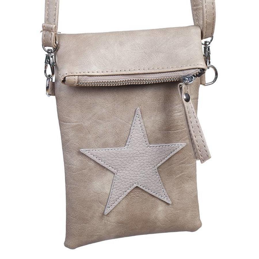 Flip top star bag / schoudertas / Bruin-1