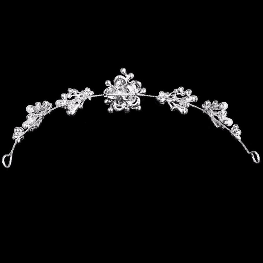 Prachtig Haar Sieraad met Parels en Diamanten-3