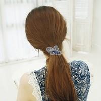 thumb-Chique Vlinder Haarclip - Blauw-2
