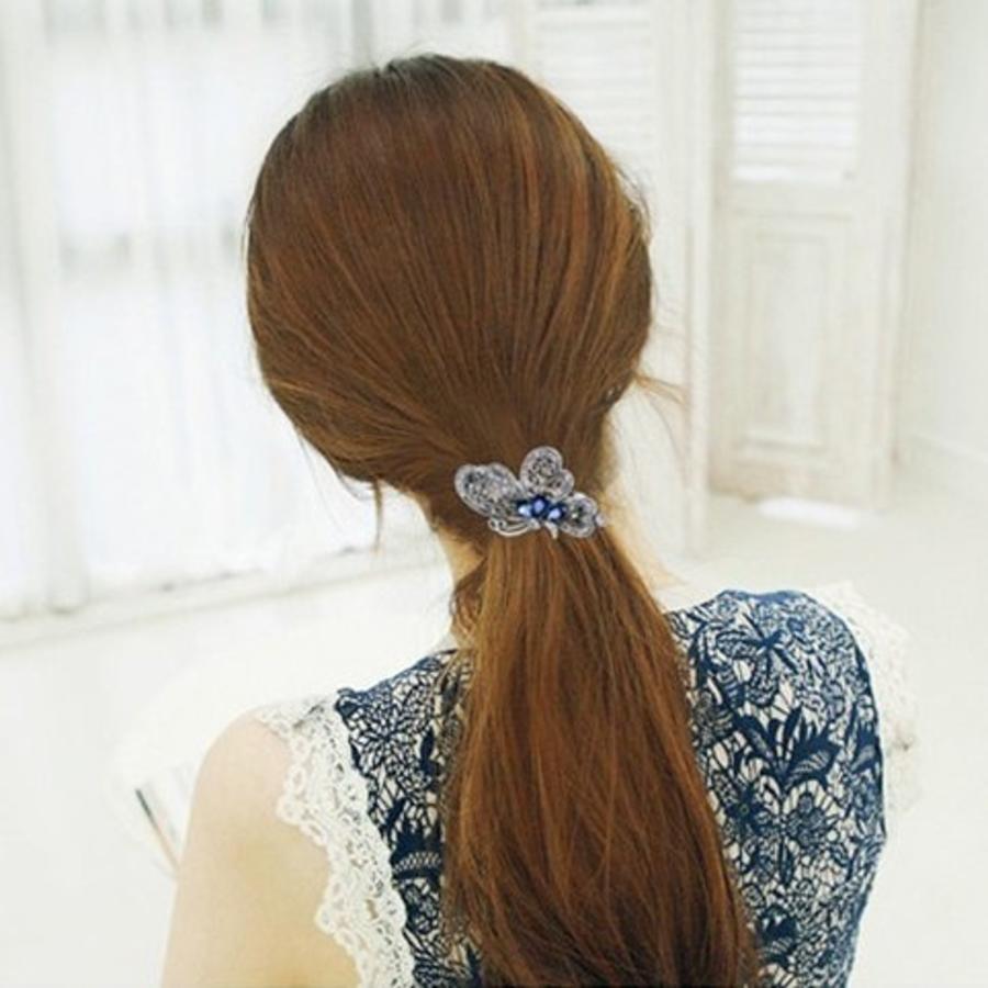 Chique Vlinder Haarclip - Blauw-2