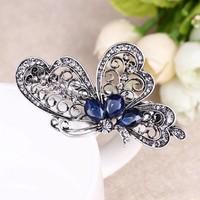 thumb-Chique Vlinder Haarclip - Blauw-4