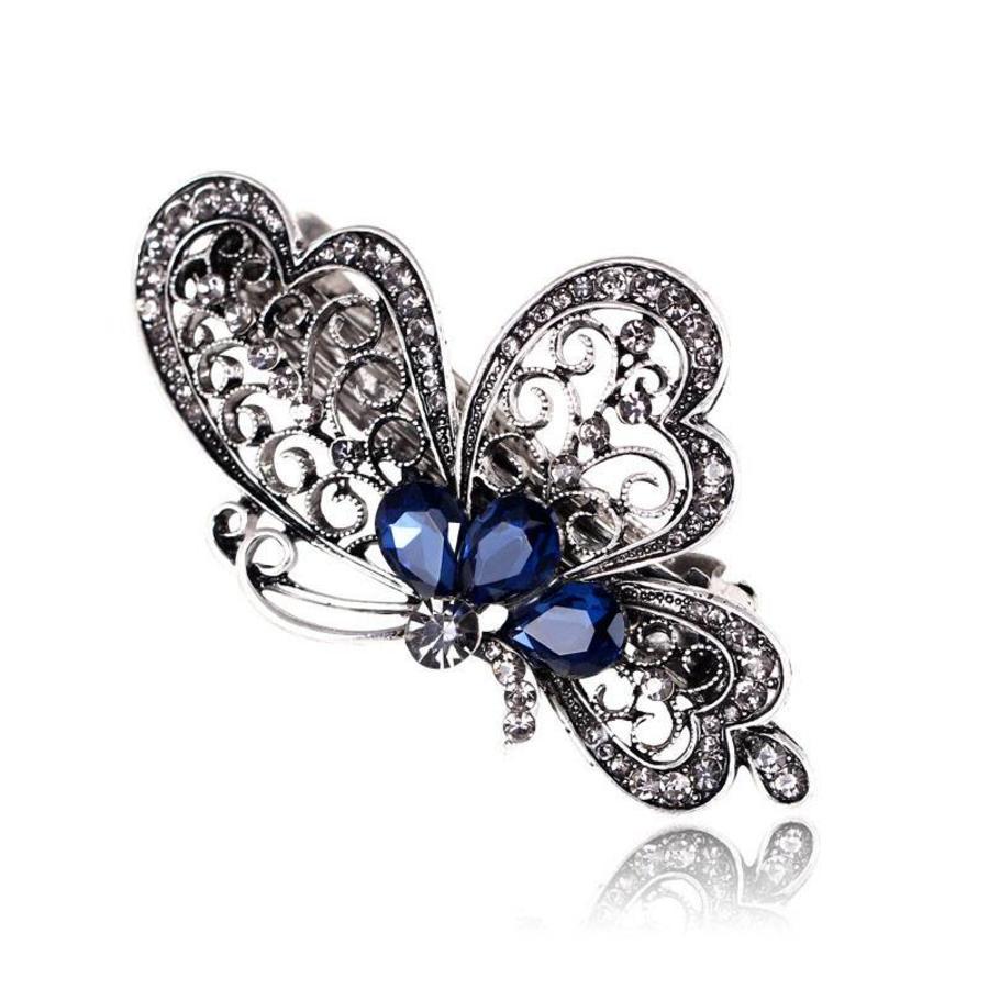 Chique Vlinder Haarclip - Blauw-1