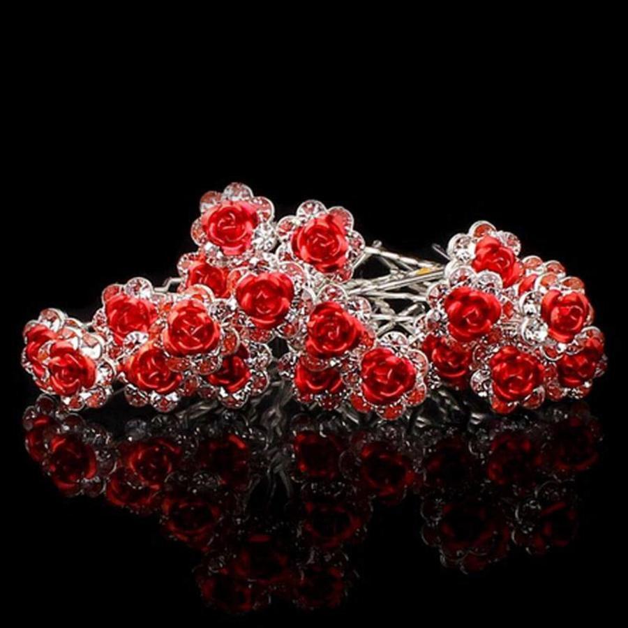 Hairpins – Rood Roosje - 5 stuks-3