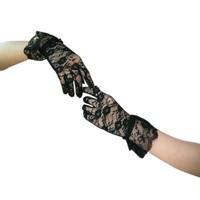 thumb-Elegante Bruidshandschoenen - Zwart-1
