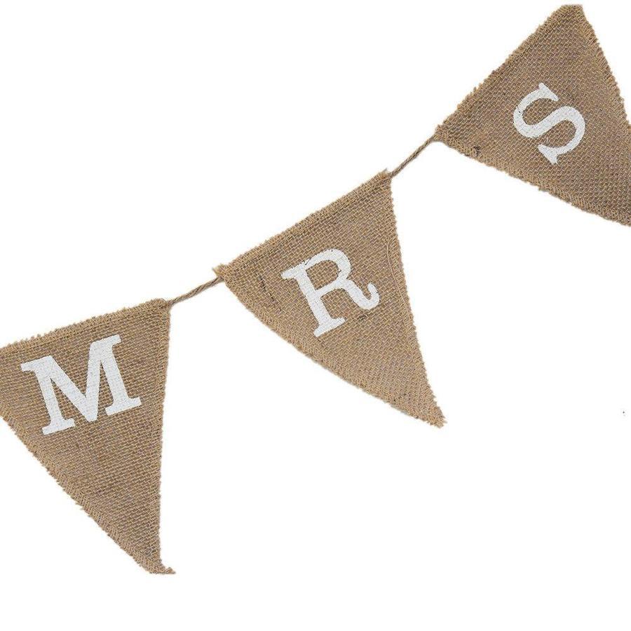 Mr & Mrs Jute Slinger - Bruiloft Decoratie-5