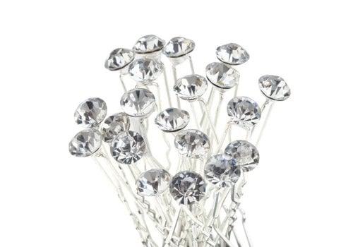 Hairpins – Fonkelende Kristal - 6 stuks