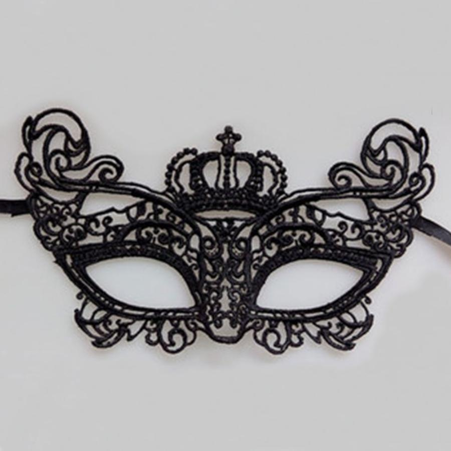 SALE - Party Masker - Zwart - 008-3
