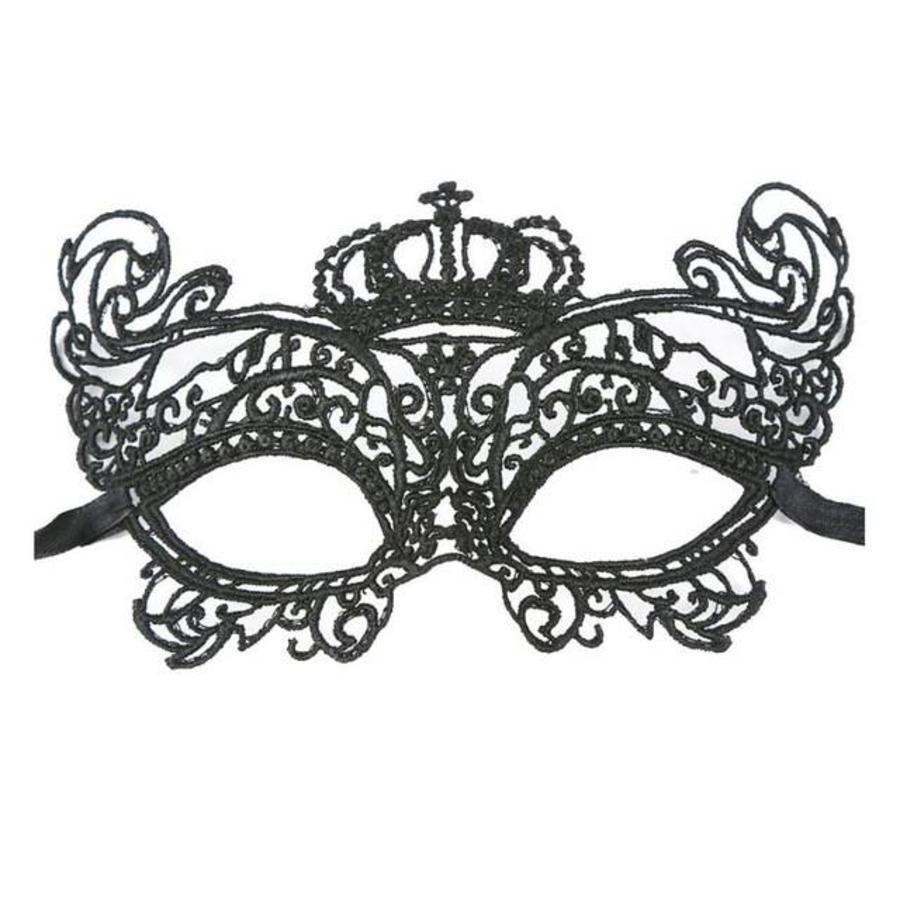 SALE - Party Masker - Zwart - 008-1