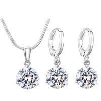 thumb-PaCaZa - Sieradenset Diamond (Ketting & Oorbellen)-1