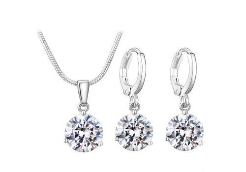 Sieradenset Diamond (Ketting & Oorbellen)