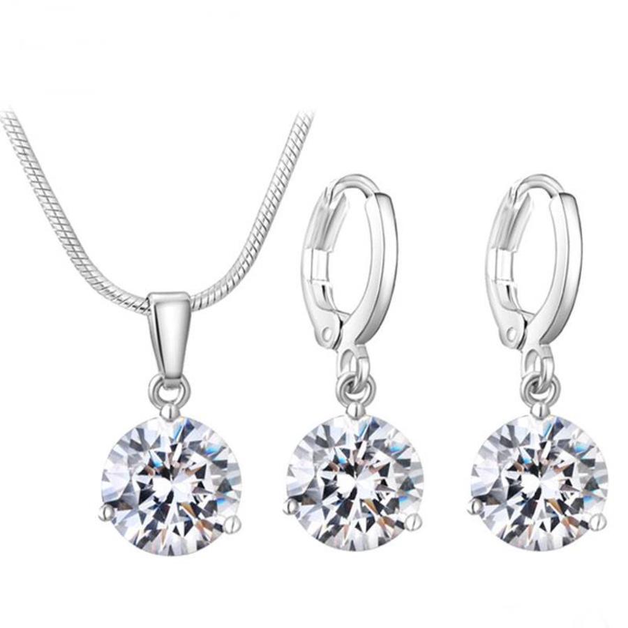 Sieradenset Diamond (Ketting & Oorbellen)-1