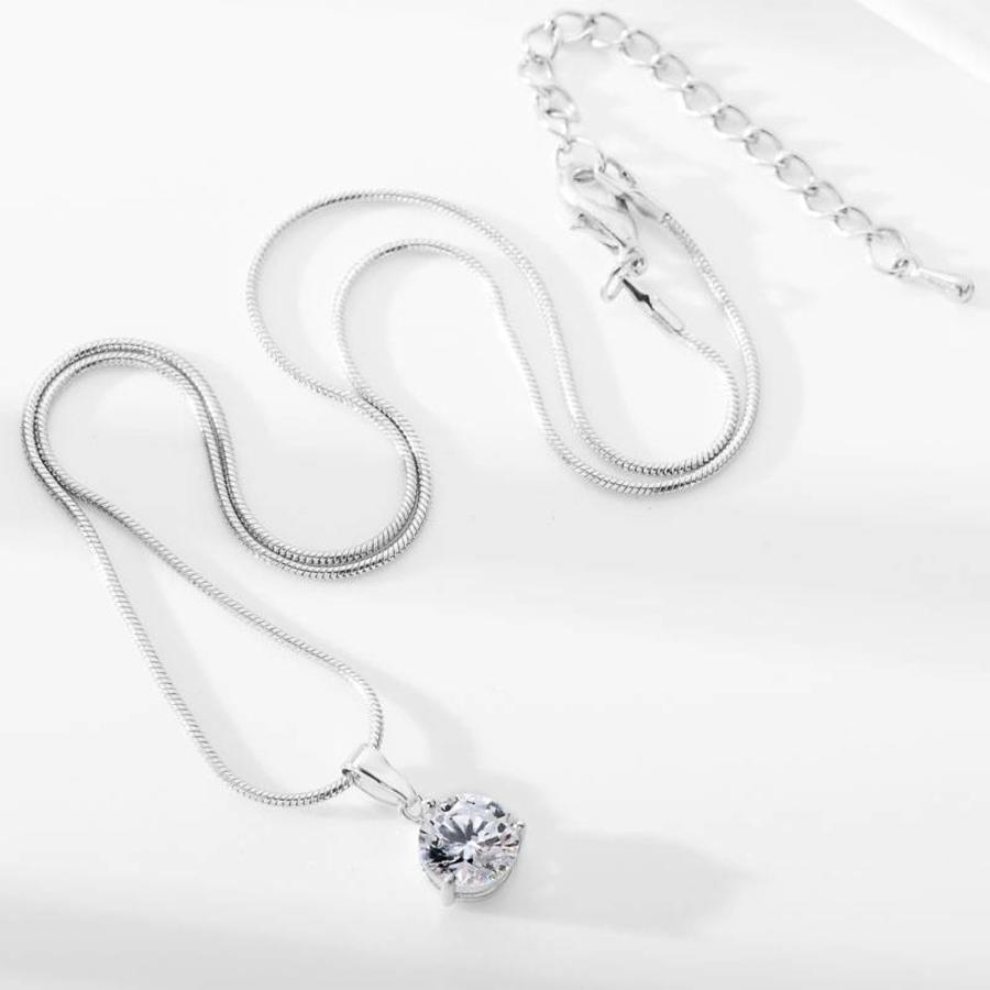 PaCaZa - Sieradenset Diamond (Ketting & Oorbellen)-5