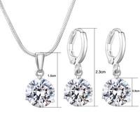 thumb-PaCaZa - Sieradenset Diamond (Ketting & Oorbellen)-3