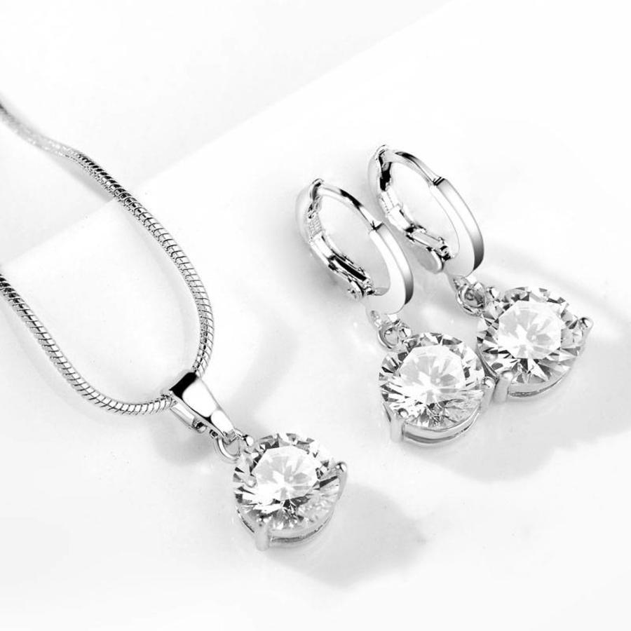 PaCaZa - Sieradenset Diamond (Ketting & Oorbellen)-2