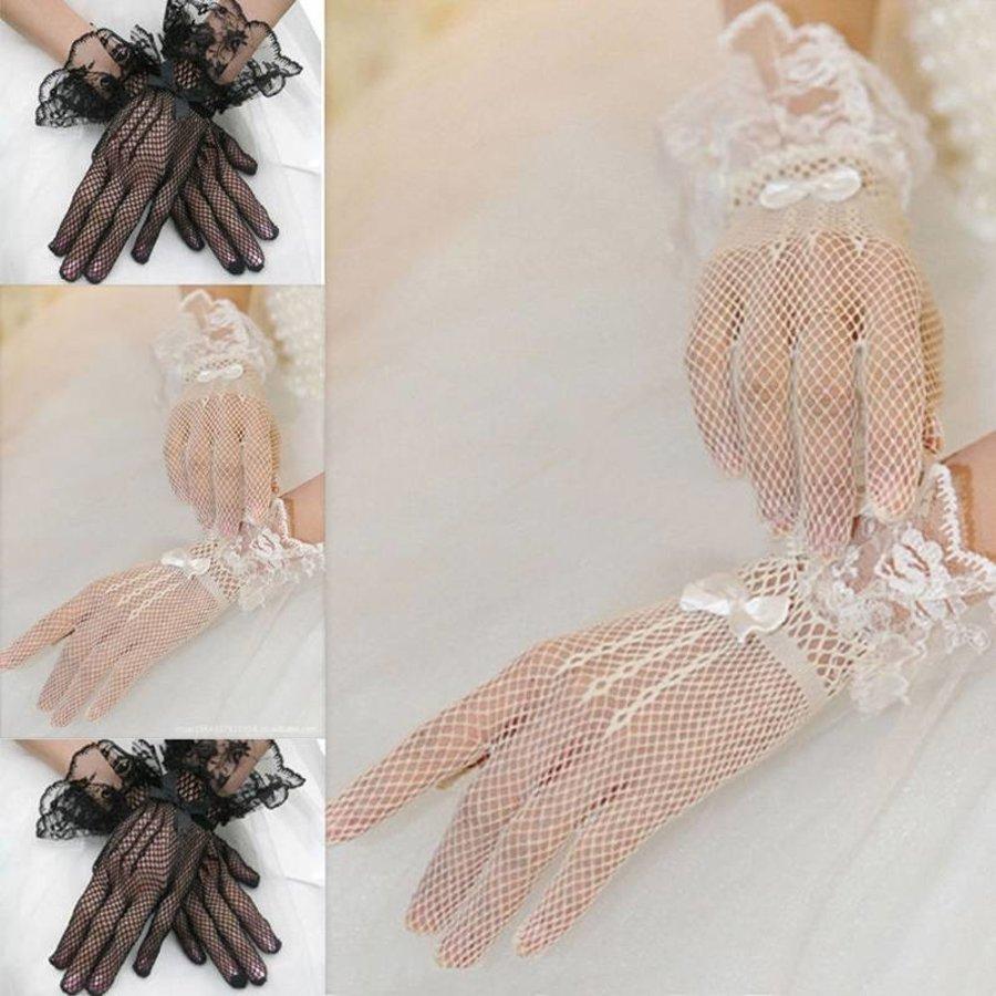 Geweldige Bruidshandschoenen - Wit-3
