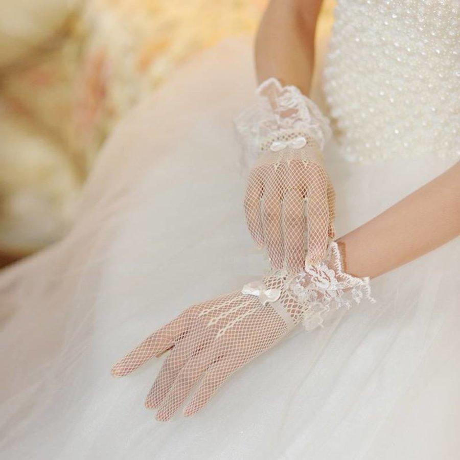 Geweldige Bruidshandschoenen - Wit-2