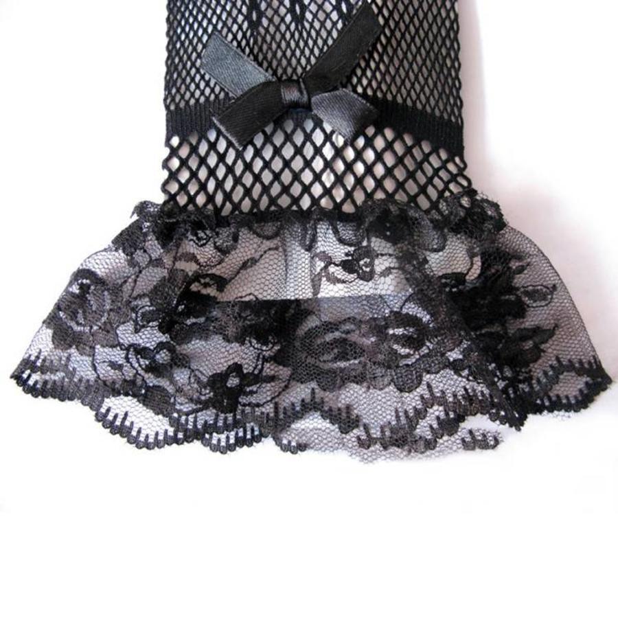 Geweldige Bruidshandschoenen - Zwart-2