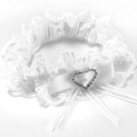 thumb-Kousenband Wit met Fonkelend Hart-2