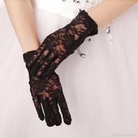 thumb-Stijlvolle Bruidshandschoenen - Zwart-1