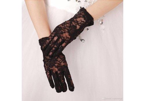 Stijlvolle Bruidshandschoenen - Zwart