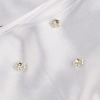 thumb-SALE - Bruidstasje met Roosjes, Pareltjes en Kristallen - Wit-4