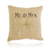 thumb-Jute Ringkussen Groot  Mr. & Mrs.-1