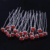 thumb-Hairpins – Rood Roosje - 5 stuks-5
