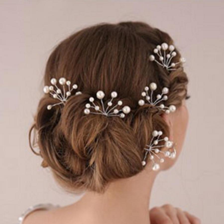 Hairpins – Ivoorkleurige Parels - 2 stuks-2