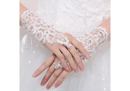 Elegante Witte Bruidshandschoenen