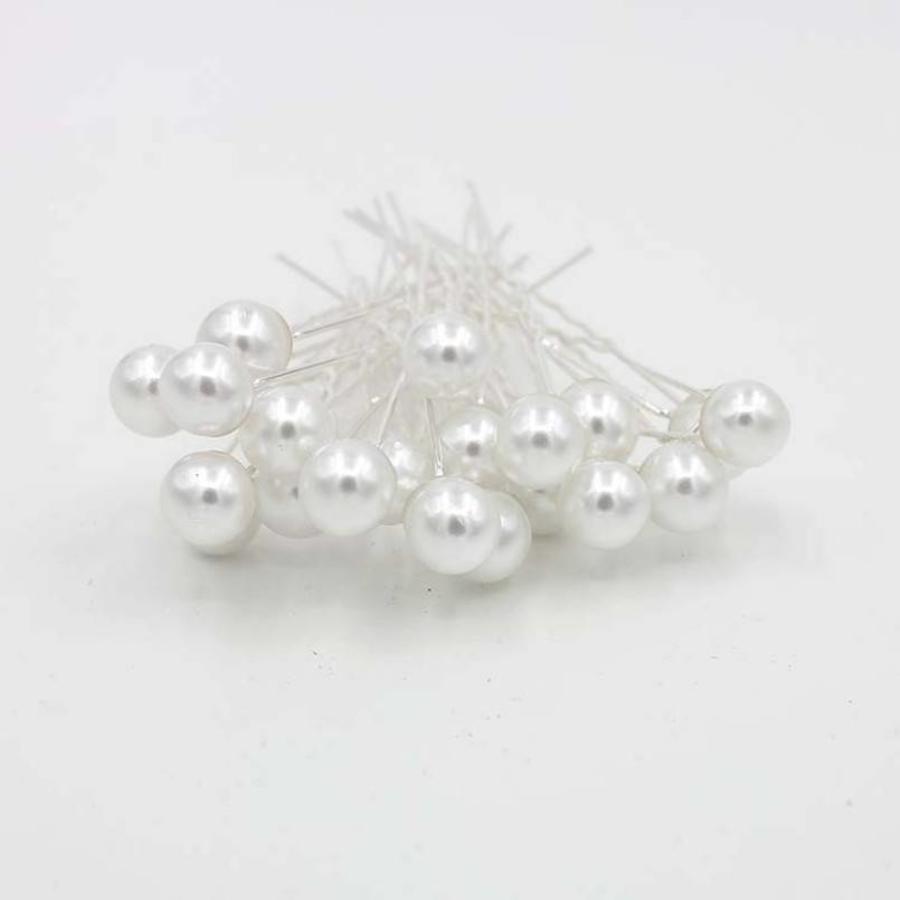 Hairpins – Parelmoerkleurige Parel - 5 stuks-4