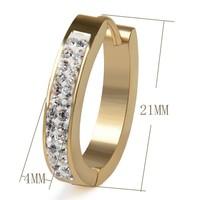 thumb-Goudkleurige Oorbellen met Diamanten-2