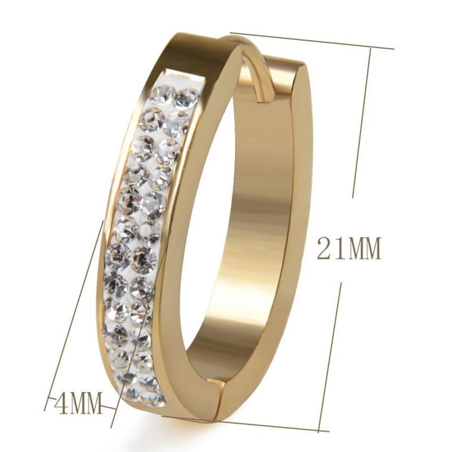 Goudkleurige Oorbellen met Diamanten-2