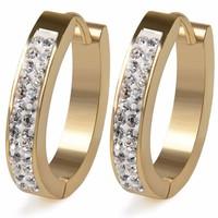 thumb-Goudkleurige Oorbellen met Diamanten-1
