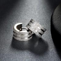 thumb-Zilverkleurige Oorbellen met Glittertje-2