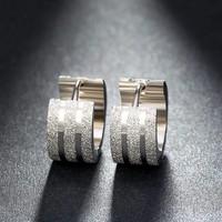 thumb-Zilverkleurige Oorbellen met Glittertje-3