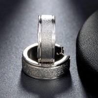 thumb-Zilverkleurige Grote Oorbellen met Glittertje-4