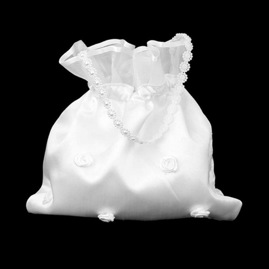 Bruidstasje met Roosjes - Wit-2