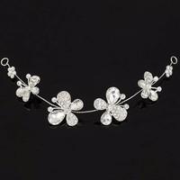 thumb-SALE - Elegant Haar Sieraad met Kristallen, Vlinders en Bloemen-2