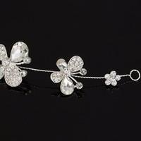 thumb-SALE - Elegant Haar Sieraad met Kristallen, Vlinders en Bloemen-4