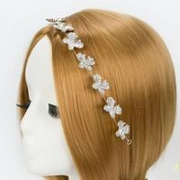 thumb-Sierlijk Haar Sieraad met Kristallen Vlinders-2