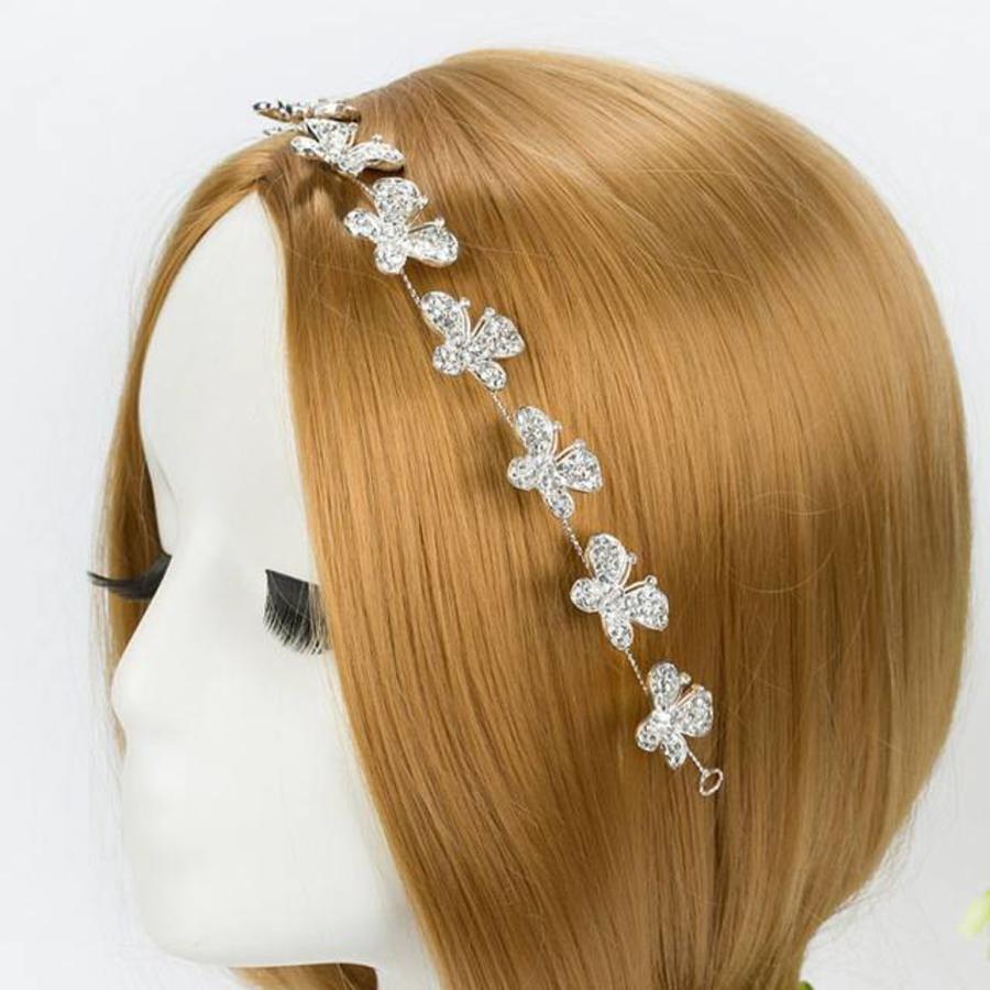 Sierlijk Haar Sieraad met Kristallen Vlinders-2