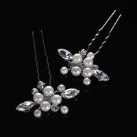 thumb-PaCaZa - Hairpins met Ivoorkleurige Parels, Kristallen en Diamanten - 2 Stuks-3