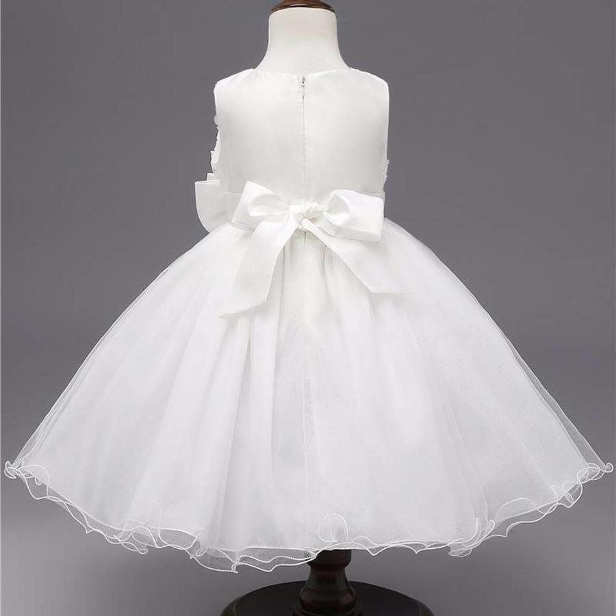 Communiejurk / Bruidsmeisjesjurk - Gia - Wit / Off White - Maat 104/110-4