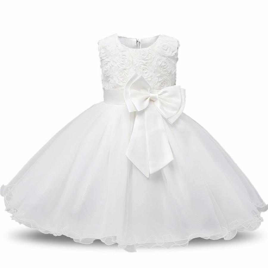 Communiejurk / Bruidsmeisjesjurk - Gia - Wit / Off White - Maat 104/110-6
