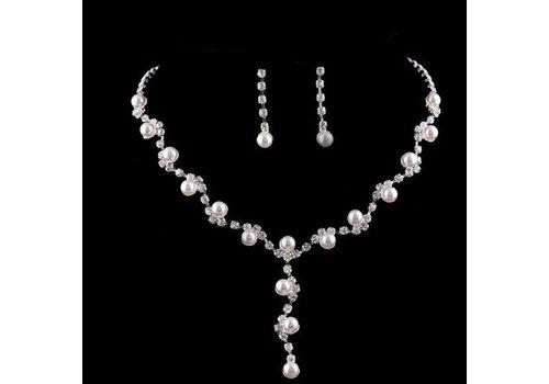 Sieradenset Pearl (Ketting & Oorbellen)