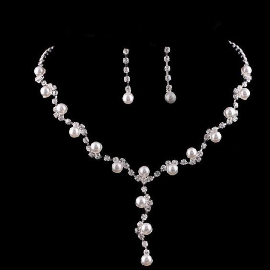 Sieradenset Pearl (Ketting & Oorbellen)-1