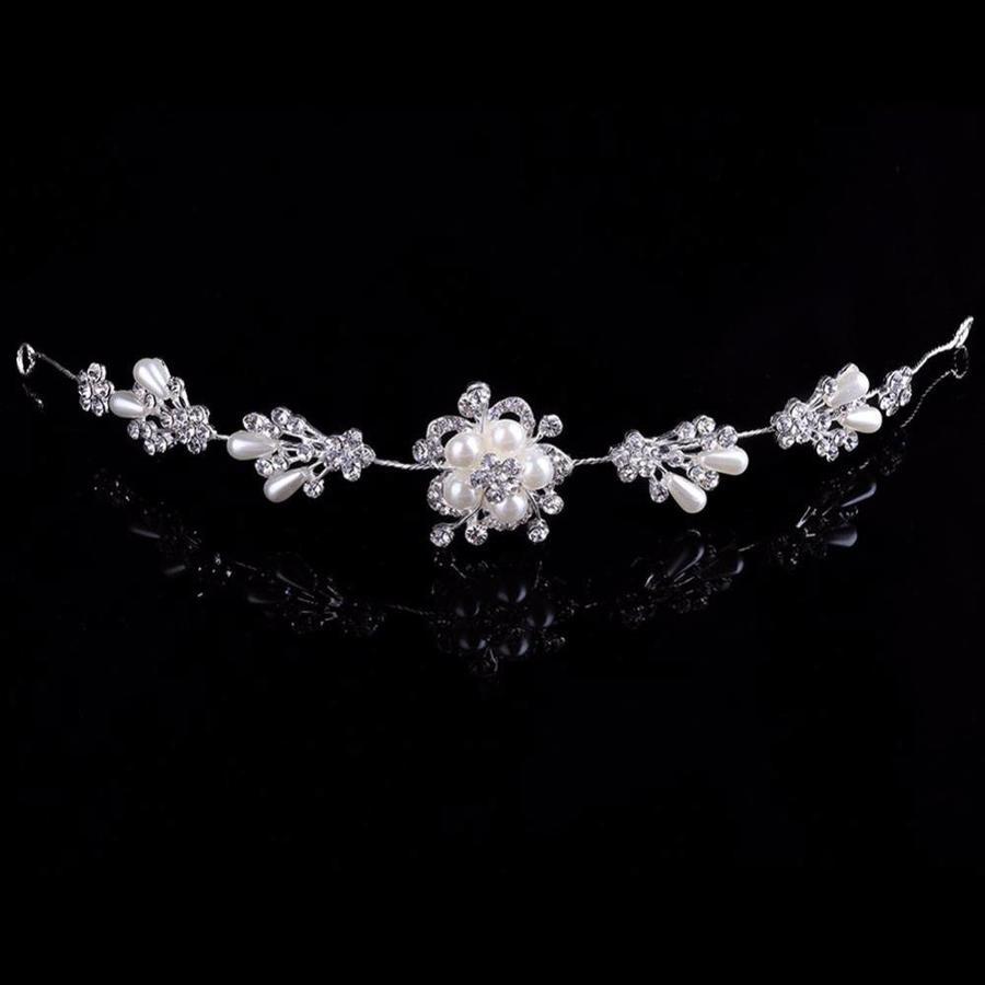 Prachtig Haar Sieraad met Parels en Diamanten-2