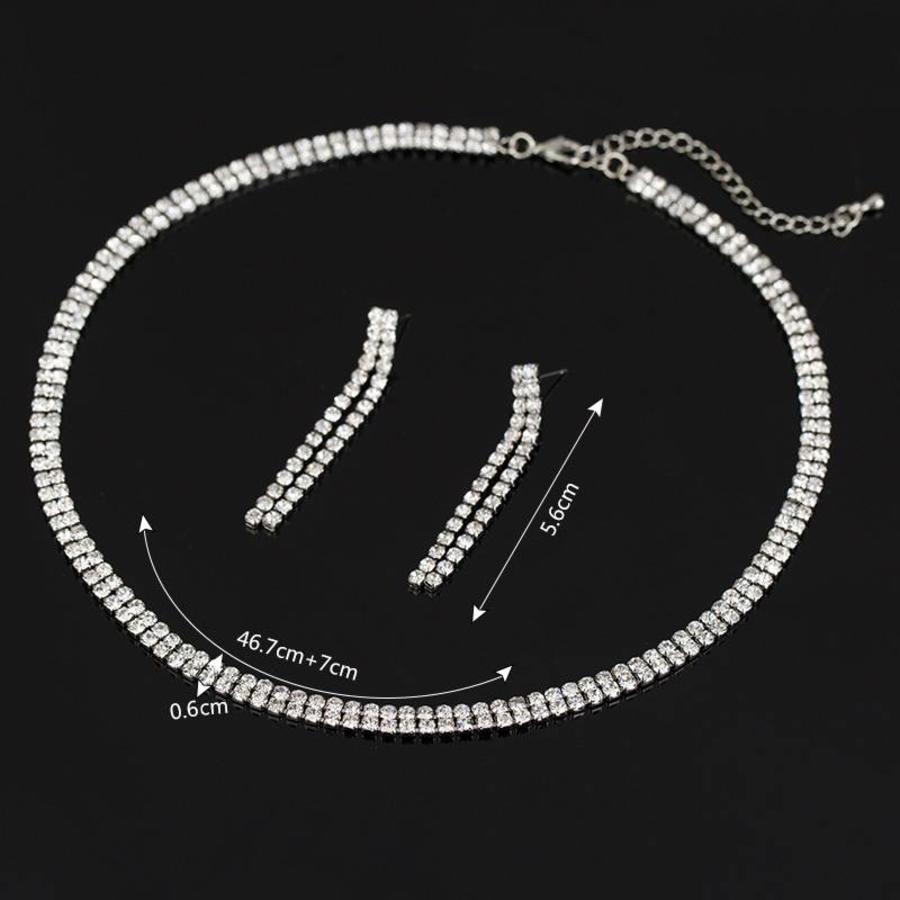 Sieraden Set Sparkle (Ketting & Oorbellen)-5